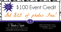 Event Credit $100 Special