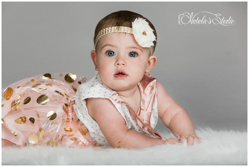 natalie s studio baby girl 6 month photo shoot